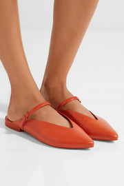 Talis leather point-toe slippers
