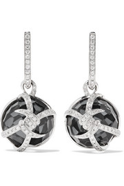 Forget Me Knot 18-karat white gold multi-stone earrings