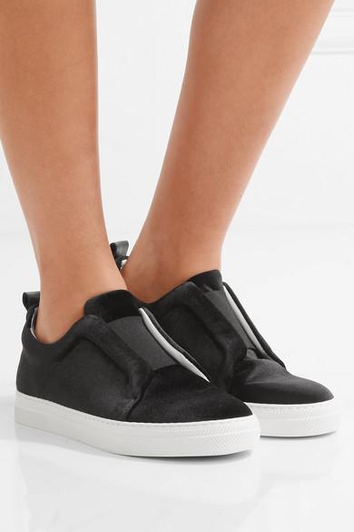 Baskets sans lacets en velours Slider