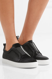 Pierre Hardy Slider calf-hair slip-on sneakers