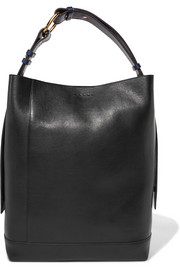 Halo Pod two-tone leather tote