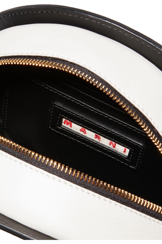 Marni Tambourine two-tone leather shoulder bag