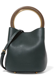 Pannier leather mini bucket bag