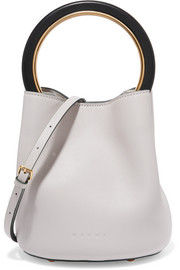 Marni Pannier leather mini bucket bag