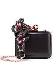 Vivi appliquéd leather clutch