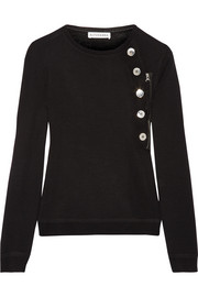 Altuzarra Collier button-detailed merino wool sweater