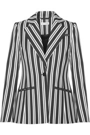 Acacia striped wool-blend blazer