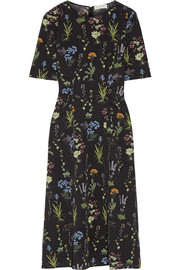 Sylvia floral-print silk-georgette midi dress