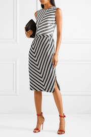 Desdemona striped wool-blend dress