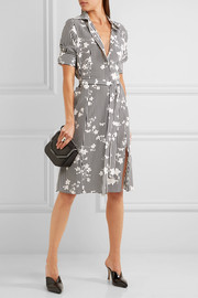 Kieran printed silk crepe de chine shirt dress