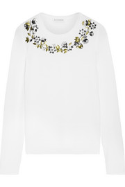Hermoine embellished merino wool sweater