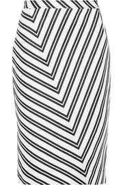 Altuzarra Celandrine striped wool-blend skirt