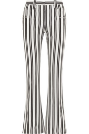 Serge striped wool-blend flared pants