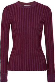 Altuzarra Regan striped stretch-knit sweater