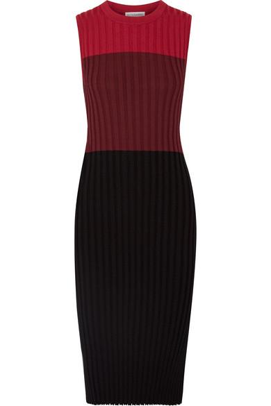 8a1656cb5054 Altuzarra | Mariana color-block ribbed stretch-knit midi dress | NET ...