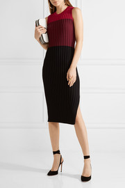 Mariana color-block ribbed-knit midi dress
