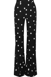Monse Polka-dot silk-blend crepe wide-leg pants