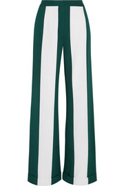 Monse Striped silk-blend crepe wide-leg pants