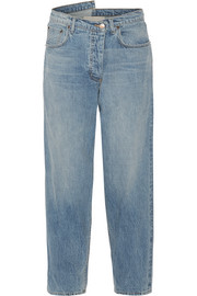 Monse Asymmetric mid-rise tapered jeans
