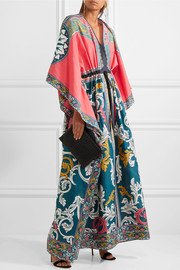 Mary Katrantzou Asso printed cotton and silk-blend maxi dress