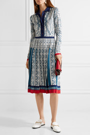 Mary Katrantzou Briscola pleated metallic jacquard-knit dress