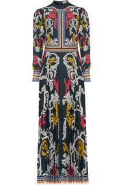 Mary Katrantzou Mizar pleated printed crepe gown