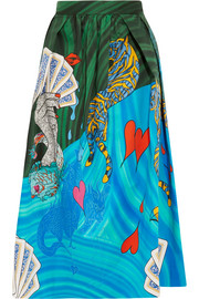 Mary Katrantzou Bowles printed cotton-blend midi skirt