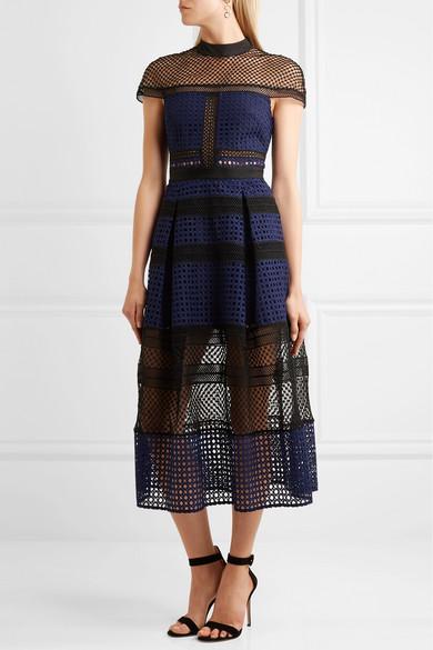 28e3eb9d601f Paneled guipure lace dress