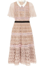 Self-Portrait Guipure lace midi dress