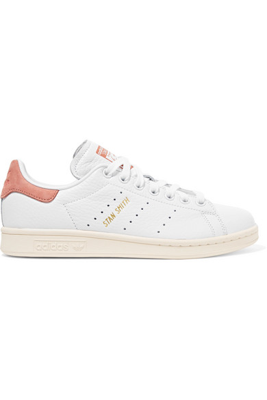 Stan Smith Suede-trimmed Leather Sneakers - White adidas Originals kD362k