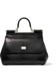 Dolce & Gabbana Siciliy medium lizard-effect leather tote