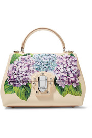 Dolce & Gabbana Lucia small printed textured-leather tote