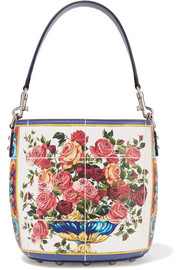 Dolce & Gabbana Printed textured-leather tote