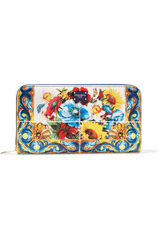 Dolce & Gabbana Printed textured-leather continental wallet
