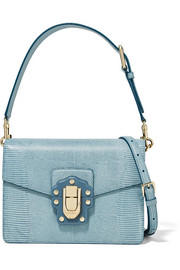 Lucia lizard-effect leather shoulder bag