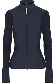Adidas by Stella McCartney Stretch-jersey and ribbed-knit jacket