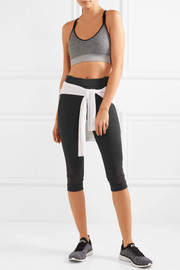 Adidas by Stella McCartney Climacool mesh-paneled stretch-jersey leggings