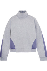 Adidas by Stella McCartney Jersey and stretch-scuba sweatshirt