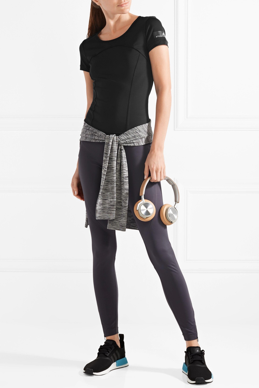 Depender de Encantador Omitir  Black Climalite stretch T-shirt | adidas by Stella McCartney | NET-A-PORTER