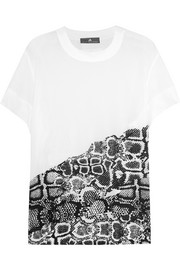 Adidas by Stella McCartney Printed mesh T-shirt