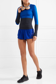 Adidas by Stella McCartney Climalite Train color-block stretch-jersey top