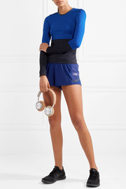 Adidas by Stella McCartney Climacool Train mesh-trimmed stretch shorts