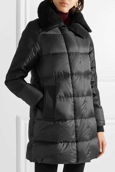 Canada Goose. Altona shearling and leather-trimmed quilted shell parka