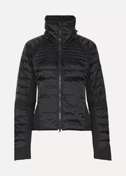 Hybridge Perren hooded quilted shell down jacket