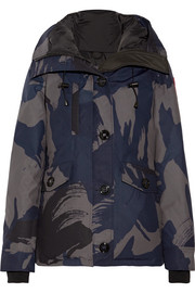Rideau camouflage-print down parka