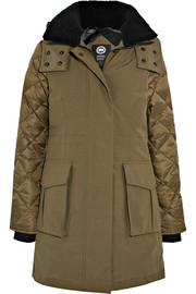 Elwin shearling-trimmed quilted shell and canvas down parka