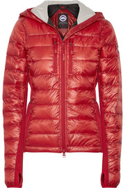 Hybridge Lite hooded quilted shell down jacket