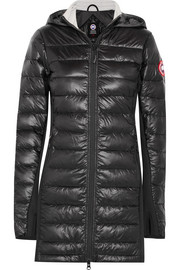 Hybridge Lite hooded quilted shell down coat
