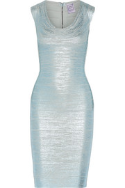 Hervé Léger Maira metallic bandage dress