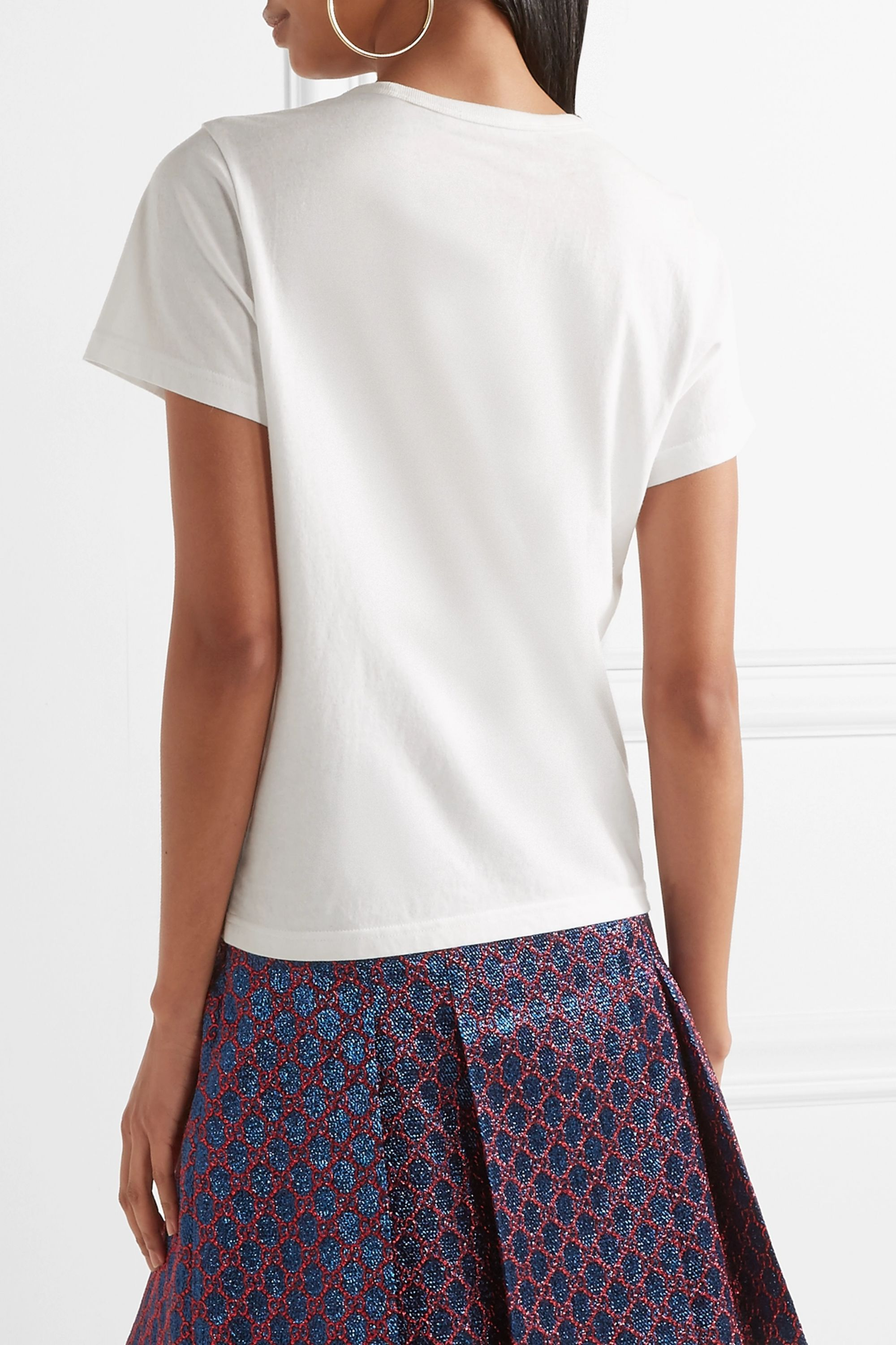 Runway Marc Jacobs Embellished cotton-jersey T-shirt